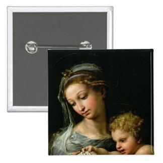 La Vierge du rose, c.1518 Badges Avec Agrafe