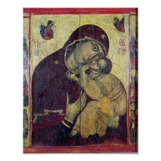 La Vierge Eleousa, de Nessebar Poster