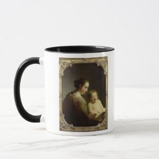 La Vierge enseignant le nourrisson le Christ à Mug
