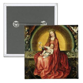 La Vierge et l'enfant 2 Badge Carré 5 Cm