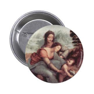 La Vierge et l'enfant avec St Anne Badges