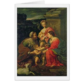 La Vierge et l'enfant avec St Elizabeth, l'Infan Cartes