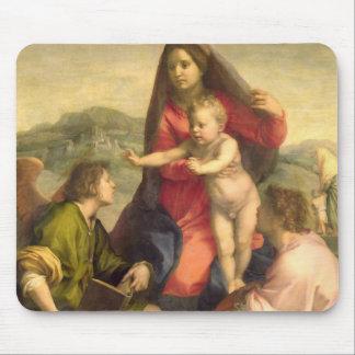 La Vierge et l'enfant avec un saint et un ange, C. Tapis De Souris