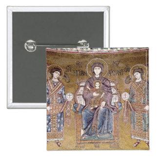 La Vierge et l'enfant Badge Carré 5 Cm