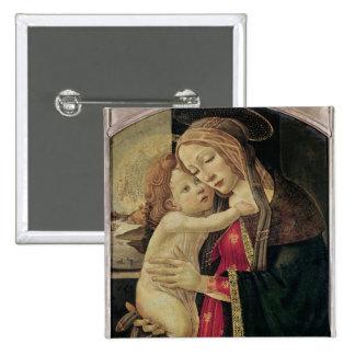 La Vierge et l'enfant, c.1500 Badge Carré 5 Cm