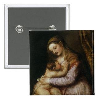 La Vierge et l'enfant, c.1570-76 Pin's Avec Agrafe