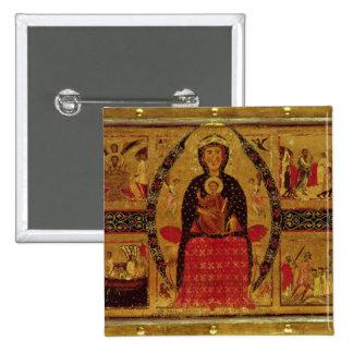 La Vierge et l'enfant couronnés Badge