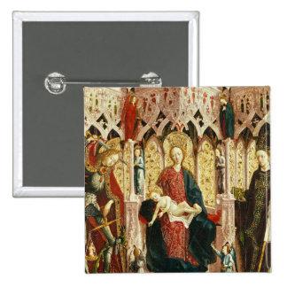 La Vierge et l'enfant couronnés, c.1475 Pin's Avec Agrafe