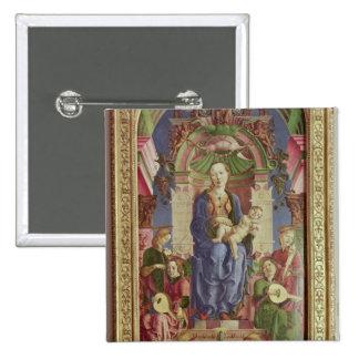 La Vierge et l'enfant couronnés, mi 1470s Badges