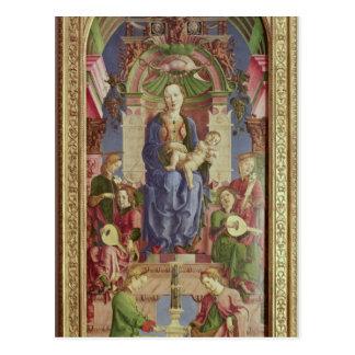 La Vierge et l'enfant couronnés, mi 1470s Carte Postale