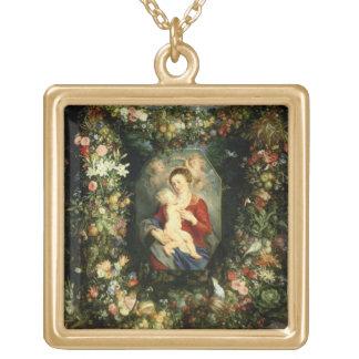 La Vierge et l'enfant dans une guirlande de fruit  Pendentif Personnalisé