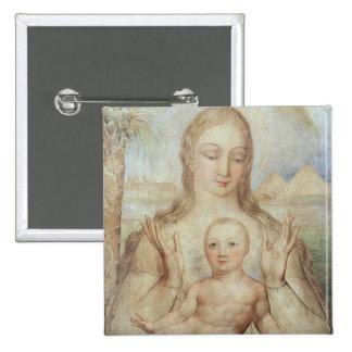La Vierge et l'enfant en Egypte, 1810 (tempera sur Pin's Avec Agrafe