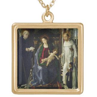 La Vierge et l'enfant (huile) Collier