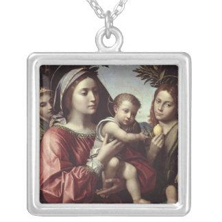 La Vierge et l'enfant Pendentif Carré
