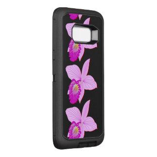 La vigne d'orchidée de fleurs personnalisent des coque samsung galaxy s8+ par OtterBox defender