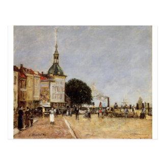 La ville de Dordrecht par Eugene Boudin Cartes Postales