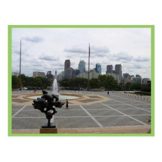 La ville de Philadelphie, de l'étape de Musée Carte Postale