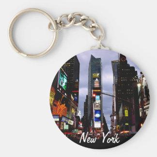 La ville de Times Square de porte - clé de New Porte-clé Rond