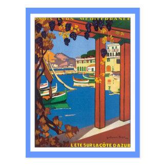 La vintage Cote d'Azur Carte Postale
