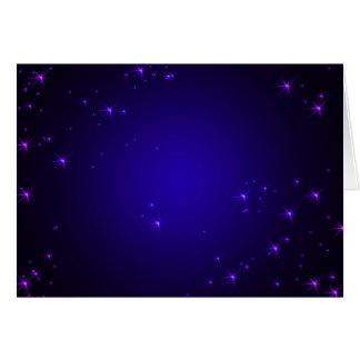 La violette se tient le premier rôle (le paysage) carte de vœux
