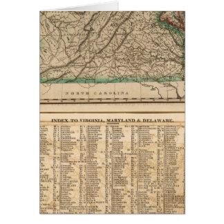 La Virginie, le Maryland, Delaware Carte De Vœux