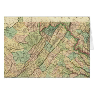 La Virginie, le Maryland et le Delaware Carte De Vœux