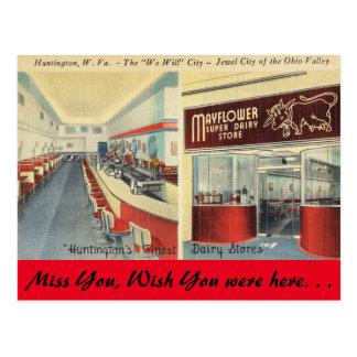La Virginie Occidentale, magasin de laiterie de Carte Postale