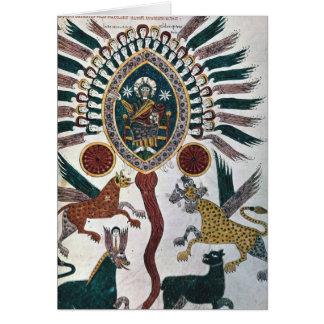 La vision de Daniel de quatre bêtes et de Dieu Carte De Vœux