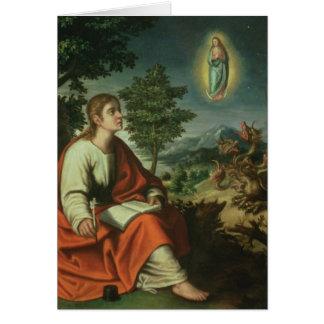 La vision de St John l'évangéliste sur Patmos Carte De Vœux