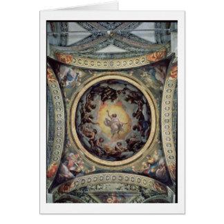 La vision de St John sur Patmos, 1520-23 (fresque) Carte De Vœux