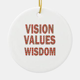 La VISION évalue la sagesse : CADEAUX À BAS PRIX Ornement Rond En Céramique