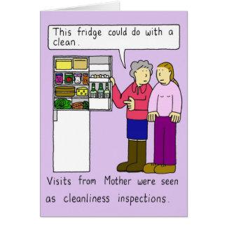 La visite de la mère carte de vœux