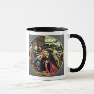 La visite (huile sur le panneau) 2 mug