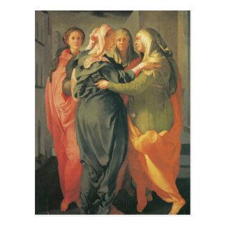 La visite - Jacopo DA Pontormo Cartes Postales