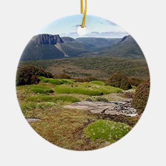 La voie sur terre 2 de la Tasmanie Ornement Rond En Céramique