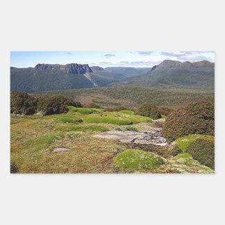 La voie sur terre 2 de la Tasmanie Sticker Rectangulaire