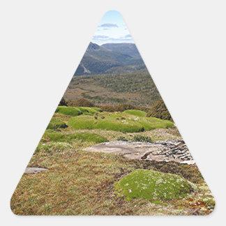 La voie sur terre 2 de la Tasmanie Sticker Triangulaire
