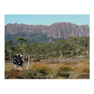La voie sur terre de la Tasmanie Carte Postale