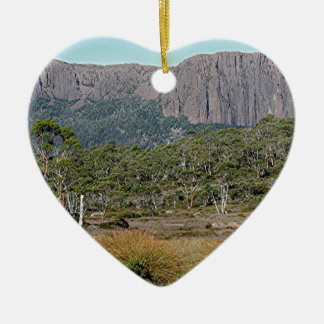 La voie sur terre de la Tasmanie Ornement Cœur En Céramique