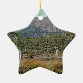 La voie sur terre de la Tasmanie Ornement Étoile En Céramique