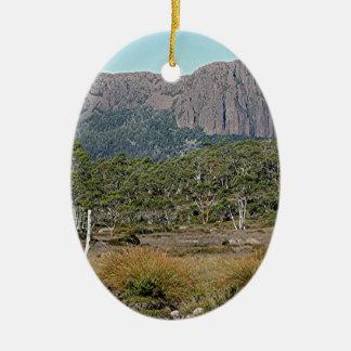 La voie sur terre de la Tasmanie Ornement Ovale En Céramique