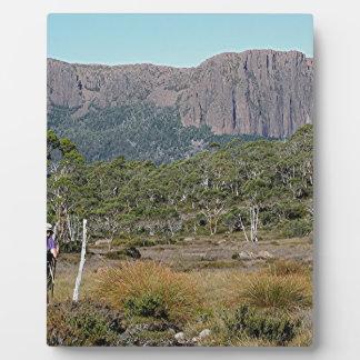 La voie sur terre de la Tasmanie Plaque Photo