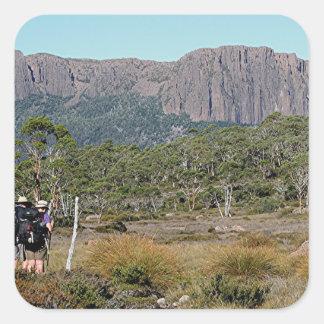 La voie sur terre de la Tasmanie Sticker Carré