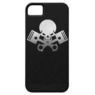 La voiture de crâne et de piston refroidissent coque iPhone 5 Case-Mate
