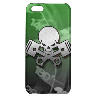 La voiture de crâne et de piston refroidissent étui iPhone 5C