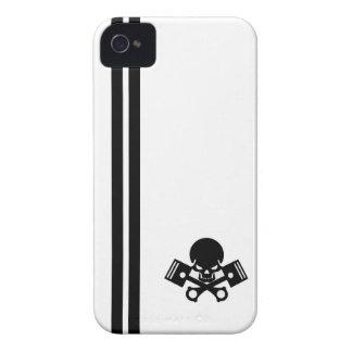 La voiture de crâne et de piston refroidissent l'e coques iPhone 4