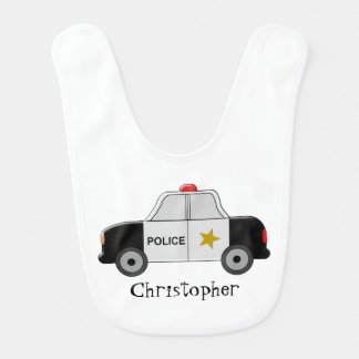 La voiture de police ajoutent juste le nom bavoir pour bébé