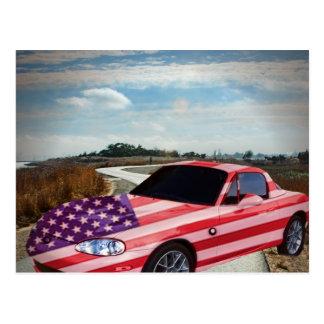 La voiture de sport peint par S d'U, carte postale