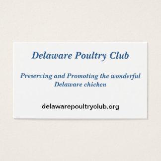 La volaille du Delaware matraquent des cartes de