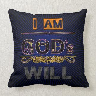 La volonté de Dieu Coussins Carrés